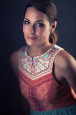 Maaike in a beautiful dress