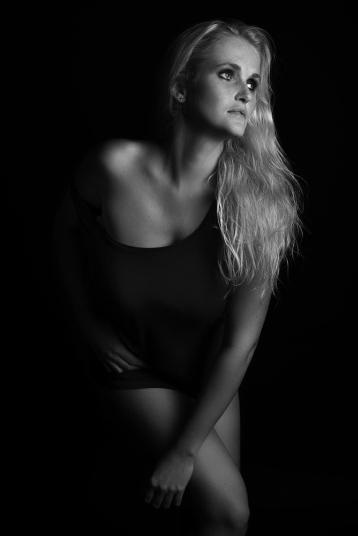 Renate facing the light.